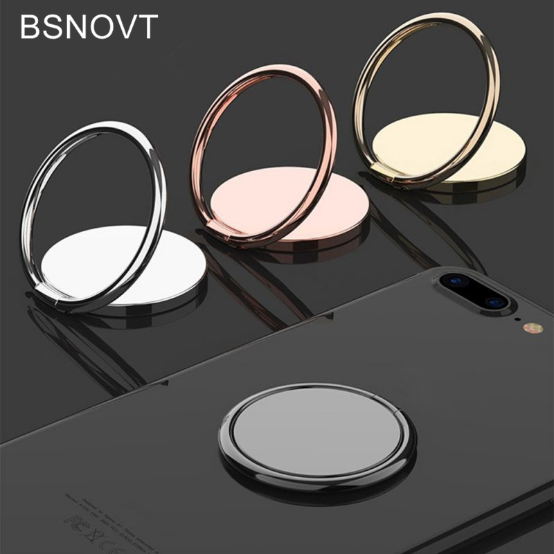 Finger Ring Holder Luxury metal Mobile Phone Socket Holder Universal 360 Degree Rotation Magnetic Car Bracket Stand Accessories<