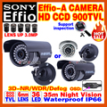 With Bracket 900TVL SONY CDD Effio-A Cctv Hd CAMERA 3.0MP-LENS Indoor/Outdoor Waterproof IP66 Infrared 35m Surveillance Products
