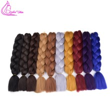 Refined Hair 60Cm Ombre Kanekalon Jumbo Braids Crochet Braiding Hair Extensions Honey Blonde Synthetic EXpression Box Braid(China)