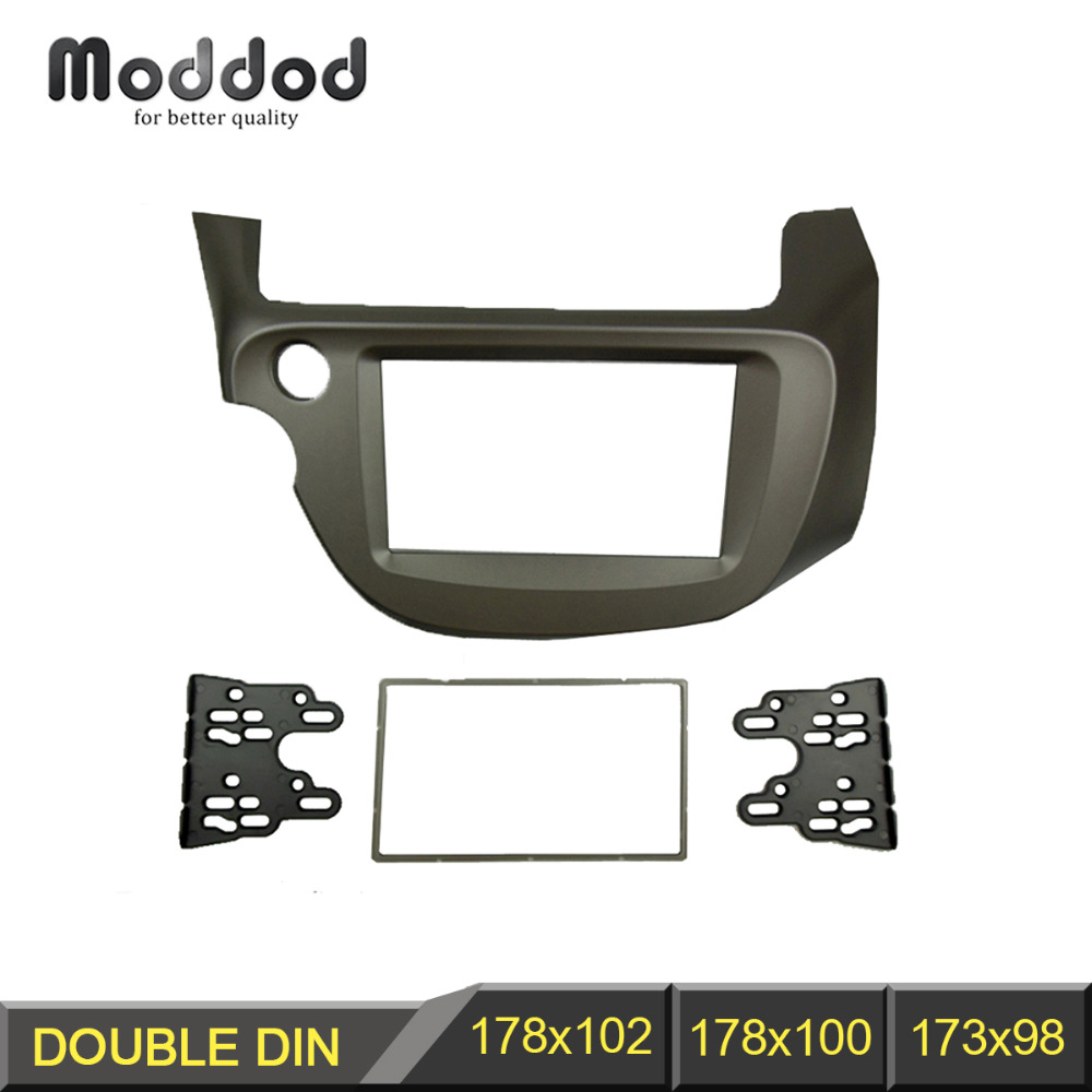 Double Din Fascia for Honda Jazz Fit Radio DVD Stereo CD Panel Dash Mounting Installation Trim Kit Face Frame Bezel double din fascia fit radio dvd stereo cd panel dash face frame mounting installation trim kit for honda civic