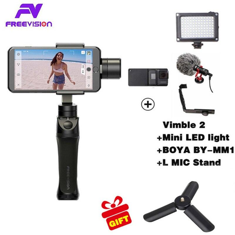 Freevision Vilta-M 3-axis Handheld Gimbal Smartphone Stabilizer for iPhone X 5 6s 8 Samsung GoPro HERO5 4 3 Yi 4K pk osmo 2 dji стоимость