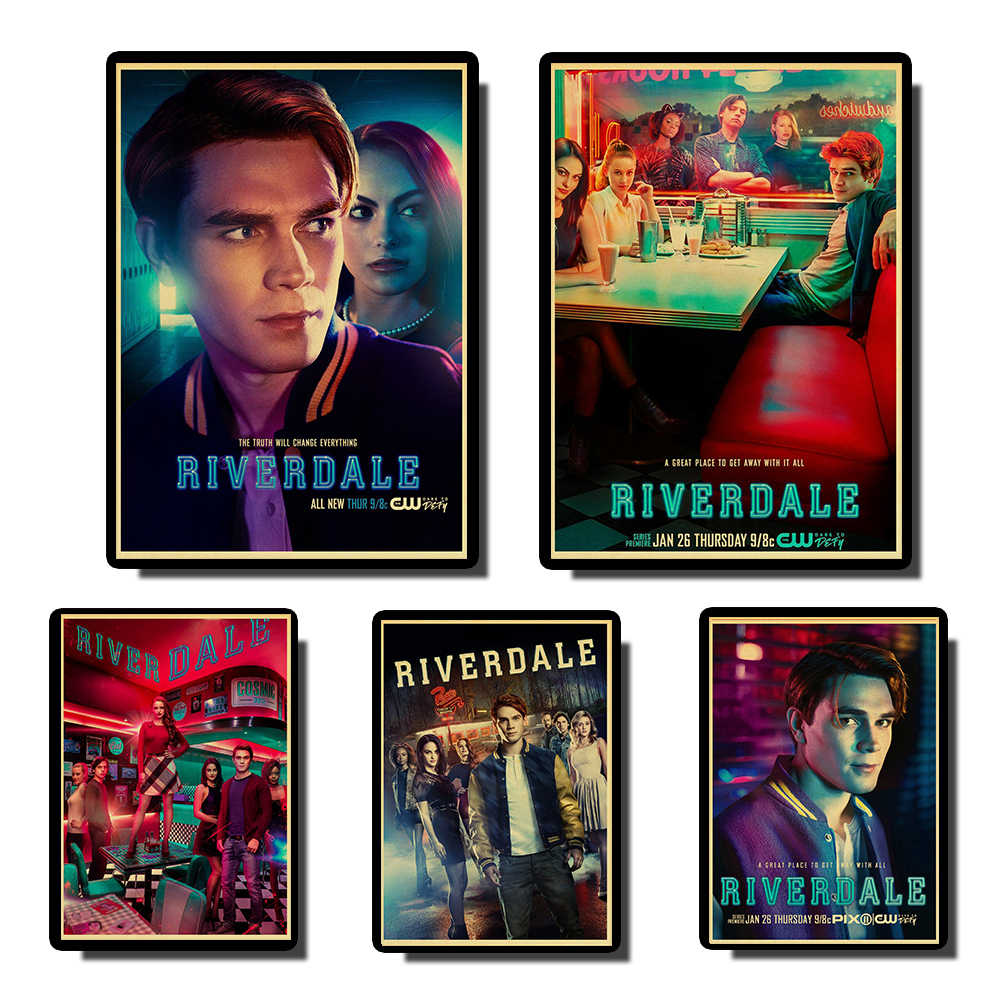 riverdale TV Series  Vintage poster art Painting Paper Poster Wall Painting  Paper Poste  For Living /Kids Room Home coffee bar