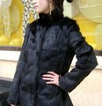 women's new fashion real natural full pelt rabbit fur coat jacket female long genuine whole skin fur overcoat winter outerwear