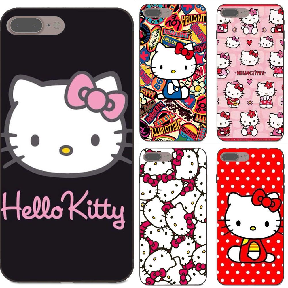 Half-wrapped Case Audacious For Xiaomi Redmi Note 2 3 4 4a 4x 5 5a 6 6a 7 Go Plus Pro S2 Y2 Tpu Accessories Case Cartoon Hello Kitty Pastel Artwork