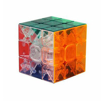 Magic Cube Transparent Color Three Order Cube Professional Game Smooth Free Sticker Classic Toy Learning Education