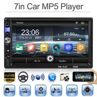 VODOOL 7in 2DIN Car MP4/MP5 Video Players Bluetooth In Dash Car Stereo MP5 Player FM Radio USB Head with Camera Car Accessories