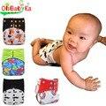 Ohbabyka Fralda de Pano All-in-two Cobertura de Carvão de Bambu Fralda Infantil Duplo Gussets Bebê AI2 Fraldas Reutilizáveis Bebê Fraldas de bolso