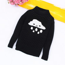 Children Choses 2018 Fashion Baby Boys Girls Knitted Sweaters Clothes Cloud Rain Black Sweaters Fashion Baby Sweaters Clothes(China)