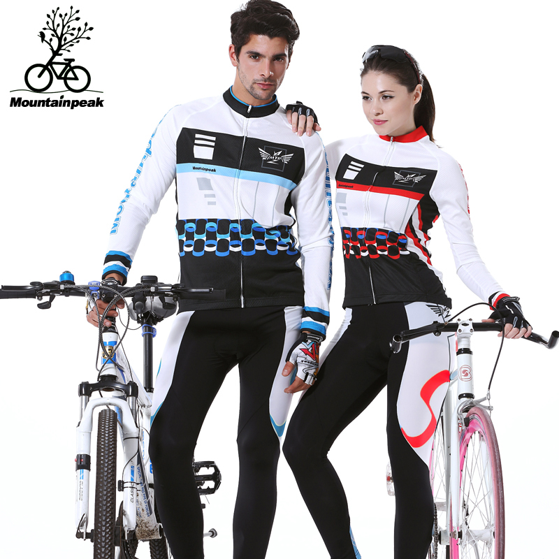 ФОТО Cycling Wear Long Sleeved Suit Bicycle Riding Trousers Clothing Mountain Bike Equipment Outdoor Spotrs Suits