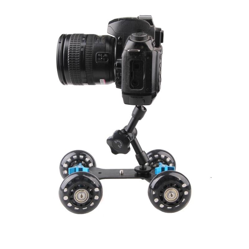 2 in 1 DSLR Mini Camera Video Car Skater Photograph Rail Rolling Track Slider Skater Table