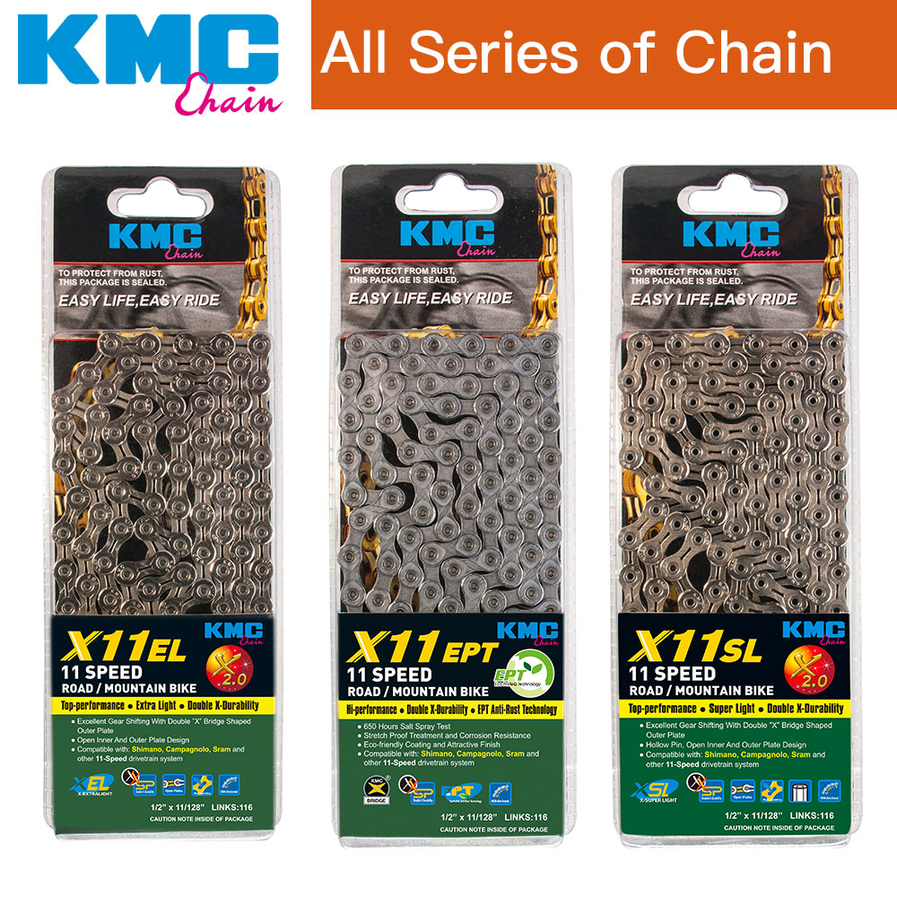KMC X11EL 11S Extra Light Bike Chain 116 L Silver