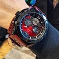 Часы NAVIFORCE мужские  спортивные  модные  Роскошные  деловые  кожаные  водонепроницаемые  аналоговые  кварцевые  наручные часы