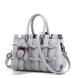 Image 3 - をモネcauthy女性のバッグ簡潔な甘い女性レジャーファッションクロスボディトートバッグ無地ラベンダーピンクグレーブラックホワイトハンドバッグ
