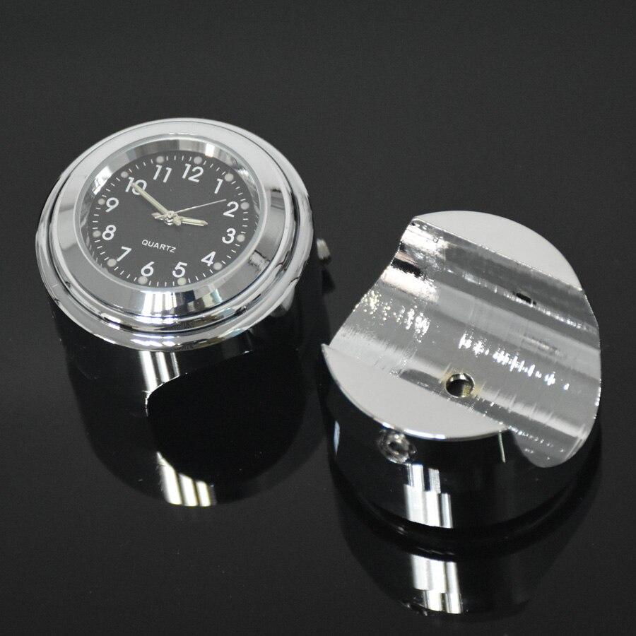 Étanche 7/8 Chrome moto guidon montage Quartz horloge montre pour Honda pour Yamaha pour Suzuki pour Kawasaki
