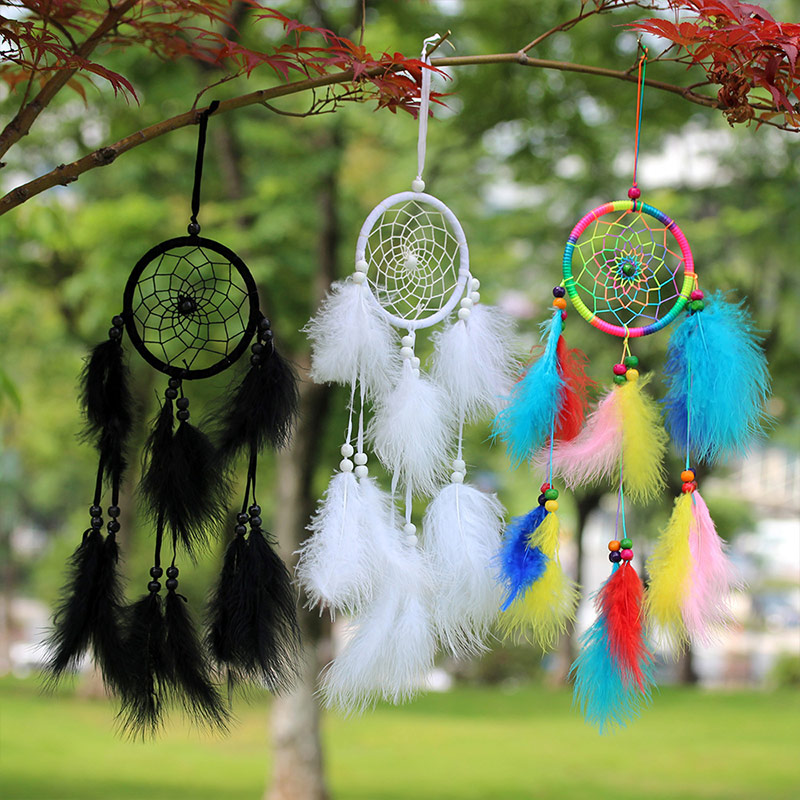 1PC Home Decoration Dreamcatchers High Quality Feather Wall Hanging Heart Circular Retro Hot Sale Vintage Popular Dream Catcher