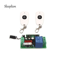 AC 220V 10A Relay 1CH 315MHz 433MHz Remote Wireless RF Switch 2 Transmitter Receiver