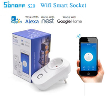 цена на Newest S20 Itead WIFI Wireless Wifi Remote Control Socket Smart Timer Plug Power Socket EU/US/UK Plug Smart Home Via Smartphone