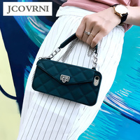 JCOVRNI Girl Silicone Soft Shell For Iphone 7 7plus With Card Lanyard Function For Iphone X