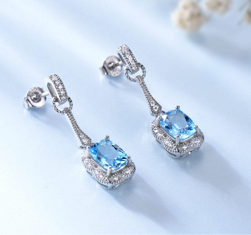Honyy swiss blue topaz earrings for women fashion (3)