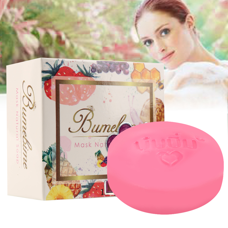 Thailand Bumebime Instant Miracle Whitening Handmade Natural Soap White Skin Natural Soaps Bath Fruit Essential Oil Soap TSLM1