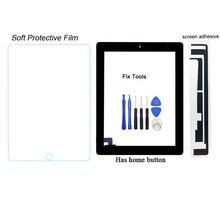 1 шт (проверено) планшета Сенсорный экран Внешний Панель для Apple iPad 2 A1395 A1396 A1397 спереди Стекло объектив + Инструменты + клей