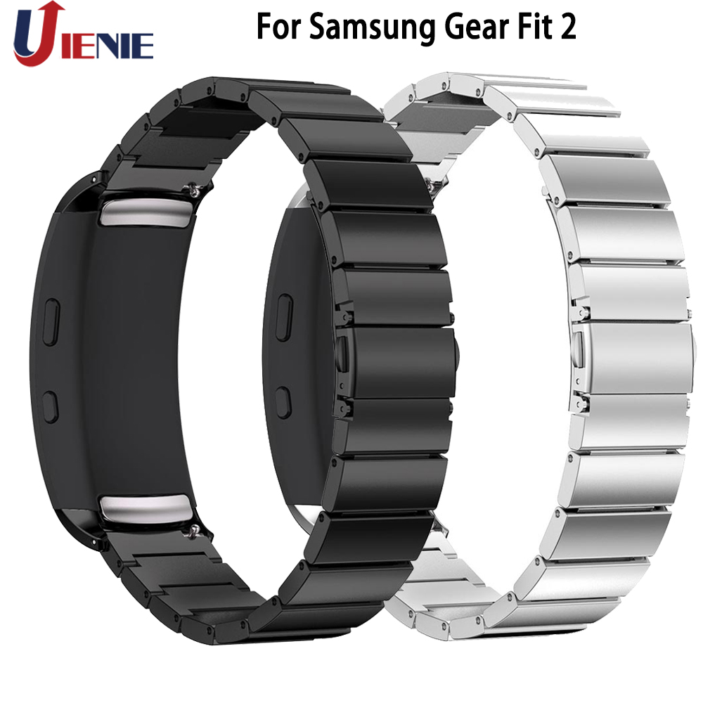 Stainless Steel Watch Band Straps For Samsung Gear Fit 2 Fit2 Pro SM-R360 Smart Watchband Metal Wrist Bracelet Replace Strap