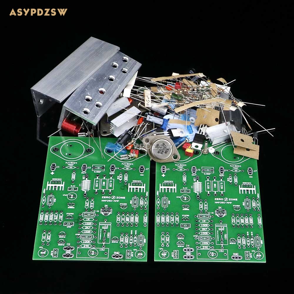 2PCS NCC200 Power amplifier DIY kit Base on UK NAIM NAP250/135 amplifier 80W+80W finished 2 0 channel ncc200 power amplifier board base on uk naim nap250 135 amp