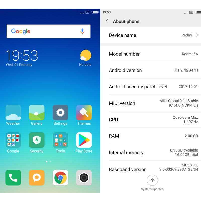 Global Version Xiaomi Redmi 5A 2GB RAM 16GB ROM 5 0