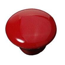 2 шт. Красная Круглая Керамическая Ручка Шкаф Ящика Кабинет Потяните Ручки С
