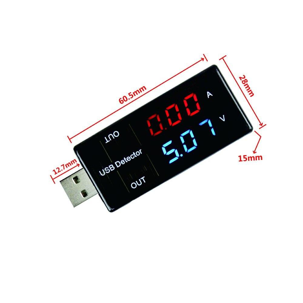 USB-тестер для измерения тока и напряжения, USB-измеритель, измеритель напряжения, двойной настольный электронный набор «сделай сам»