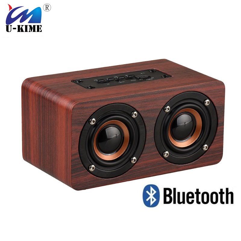 Wood Bluetooth Speaker Bookshelf Wireless Hifi Shock Super Bass Speakers AUX Audio Input For Phone iPhone Sumsung Xiaomi