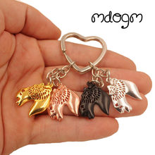 2018 Wire Haired Fox Terrier Dog Animal Cute Gold Silver Plated Keychain For Bag Car Women Men Girls Boys Love Jewelry K156(China)