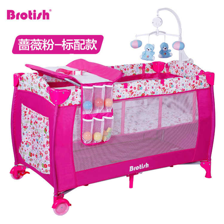Baby Crib Multi Functional Gaming Bed Folding Baby Nest Baby