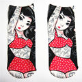 New arrival Funny Cute Tattoo Men Full Print Women's Men's Low Cut Ankle Socks Cute Cotton Hosiery Casual Sock Slippers Harajuku