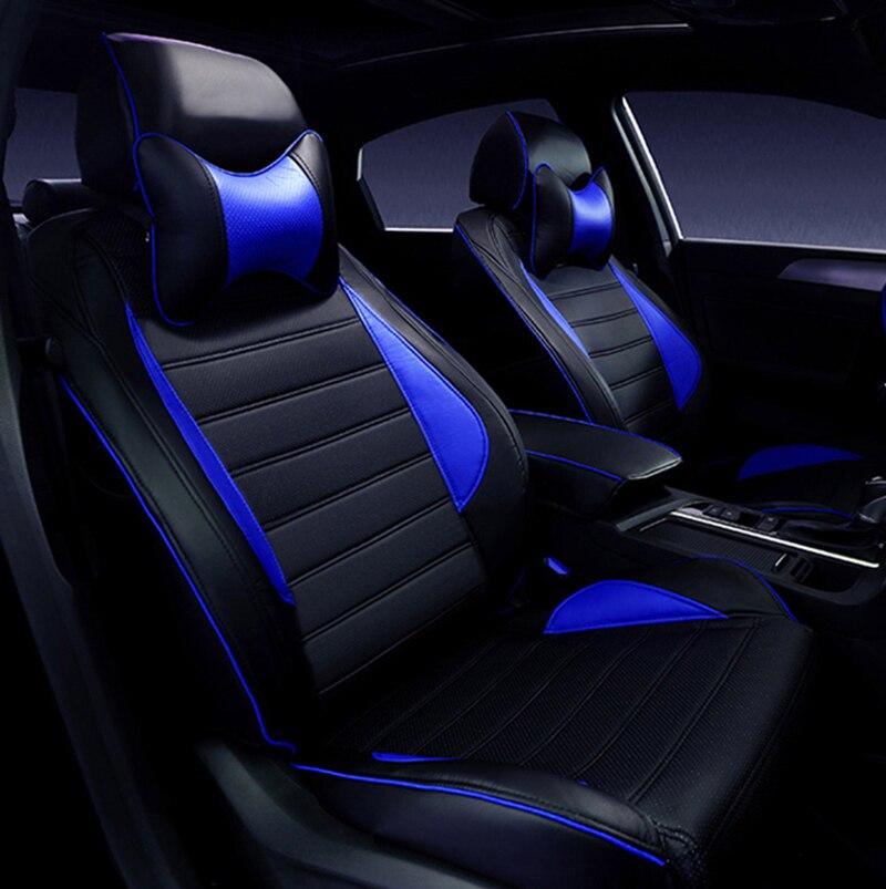 Spécial housses de siège de voiture En Cuir Pour Toyota RAV4 PRADO Highlander COROLLA Camry Prius Reiz COURONNE yaris accessoires car styling