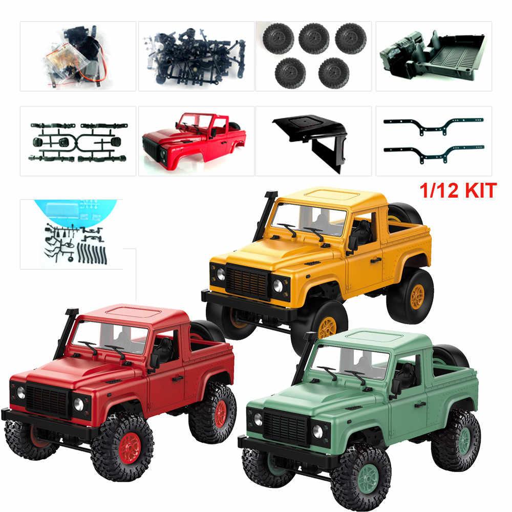 D91k 1/12 2.4G RC Auto DIY Kit Model Building Sets DIY Radio Bestuurbare Auto Off-Road Truck Buggy machines Op De Afstandsbediening