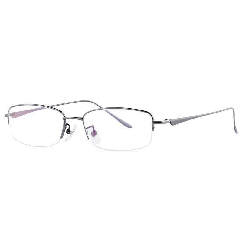 Titane pur lunettes cadre hommes demi myopie lunettes Prescription Designer optique 841 mince jambes