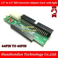 free DHL or EMS 2.5 to 3.5 IDE Converter Adapter Card 44pin Laptop Hard Drive HDD to Desktop IDE Converter Card with light