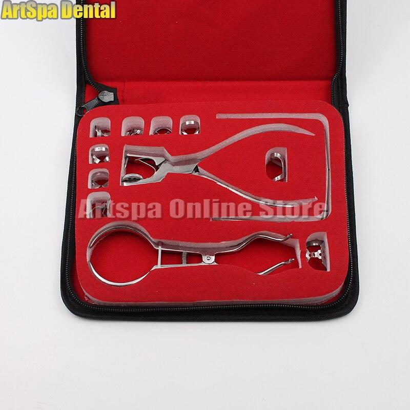 1 Juego de 12 piezas de instrumentos quirúrgicos dentales de acero inoxidable de goma Dental-in Blanqueamiento dental from Belleza y salud    1