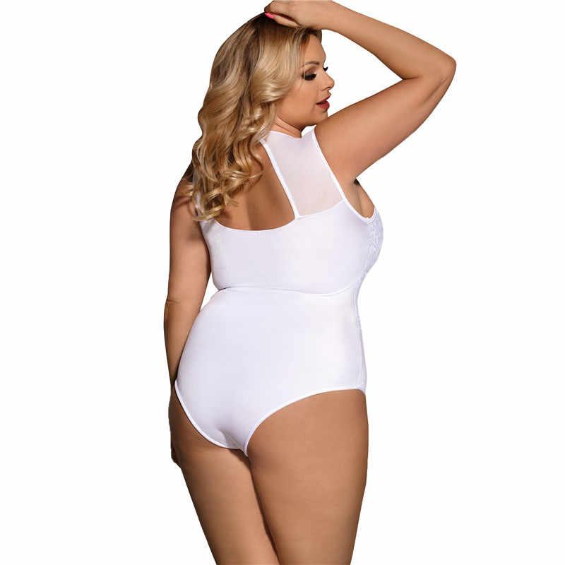 Body Femme Romper สั้นผู้หญิง PLUS ขนาด 5XL ลูกไม้เซ็กซี่ตัดกลับ Bodycon Bodysuits Salopette Femme R80472