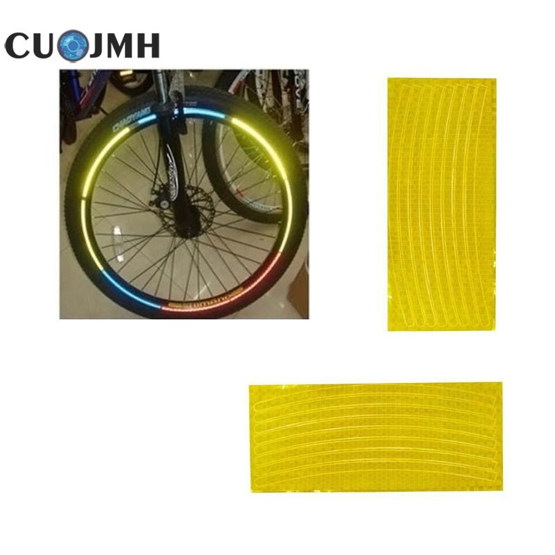 Reflectance Material Night Bike Carriage Wheel Sticker Eflective Stripe 4 Colors High Temperature Resistance Reflective Tape
