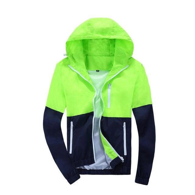 Jacket Men Windbreaker 2018 Spring Autumn Fashion Jacket Men's Hooded Casual Jackets Male Coat Thin Men Coat Outwear Couple 4