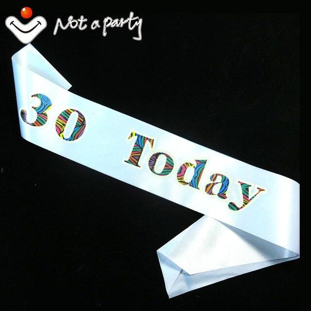 3pcs Woman Man 30 Birthday Sash 21 40 50 60 Souvenirs Party Favor