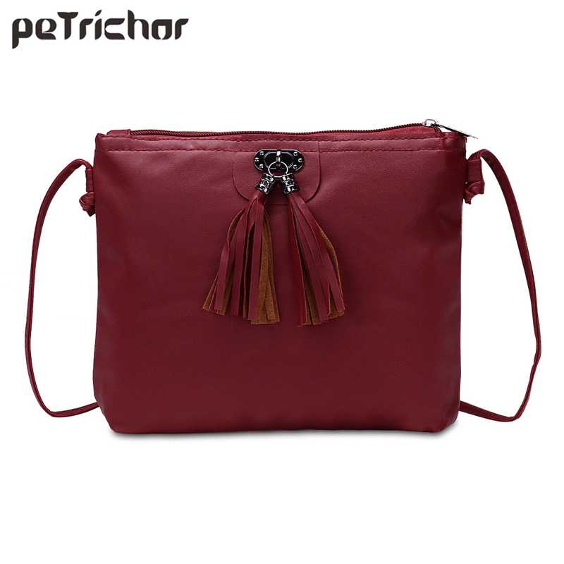 New PU Women Bags Women Leather Handbags Shoulder Crossbody Ladies Tassel Messenger Bag Bolsas Feminina Casual Tote Brands 2017 new women shoulder bags solid pu leather handbags ladies brand designer bucket handbag purse bolsas feminina casual totes
