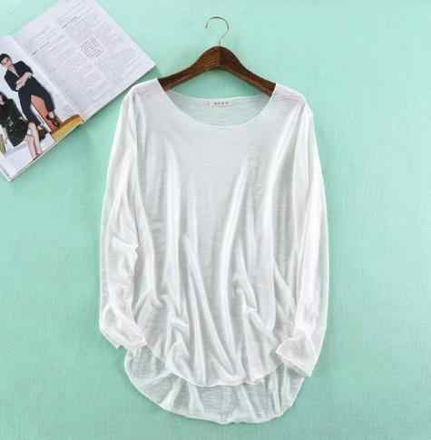 100% хлопковая футболка femme 2018 Осенняя Толстовка Harajuku рубашка женские топы Модные повседневные свободные camiseta mujer блузка