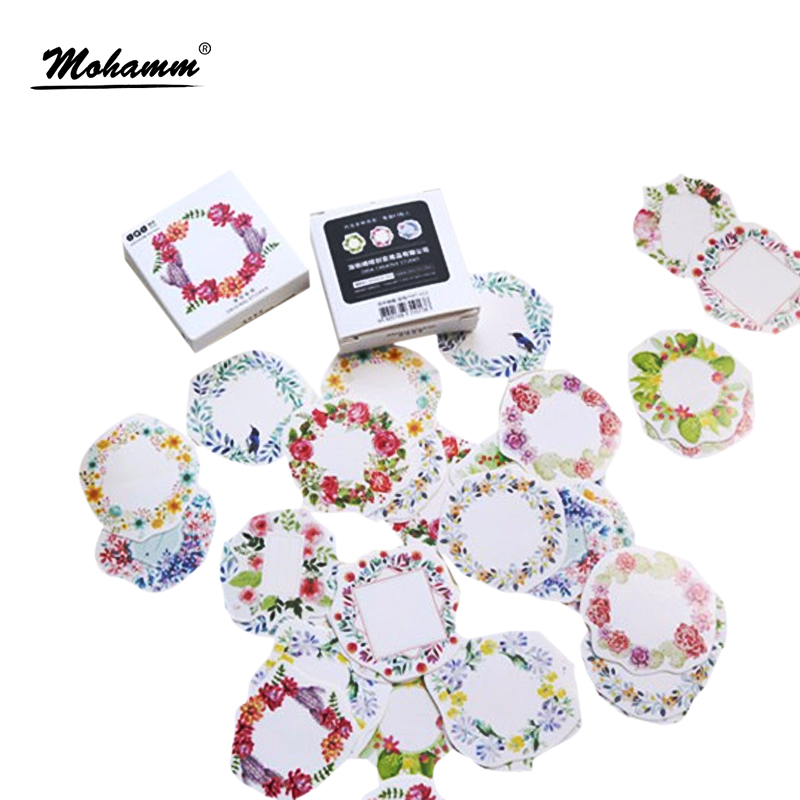45 Pcs/box Cute Colorful Garlands Papers Stickers Flakes Vintage Romantic Love For Diary Decoration Diy Scrapbooking Sticker
