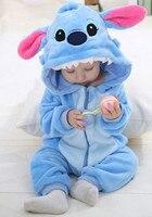 Newborn Baby pajacyki Wiosna Jesień Baby boy ubrania Kombinezon Dziewczyna zwierząt Pajacyki Zimą Ciepłe Romper Noworodka Ubrania Dla Dzieci piżamy