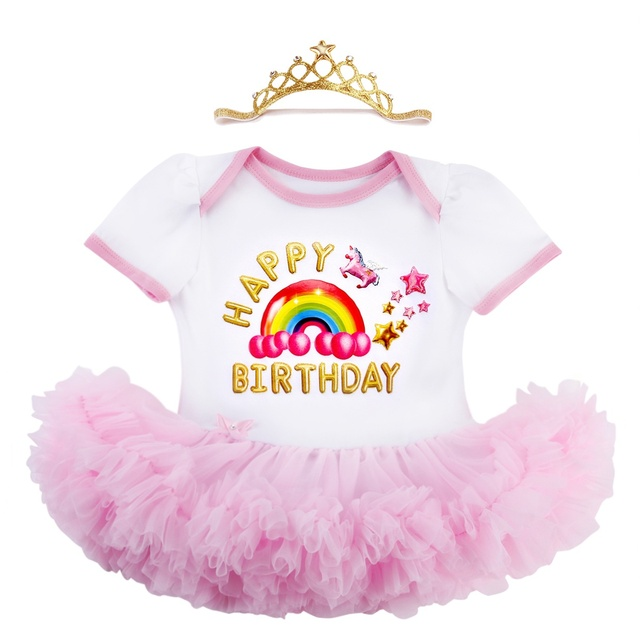 Unicórnio Boutique Infantil Menina Vestido Tutu Roupas De Bebe De Menina,  Chiffon Conjuntos Roupa Da