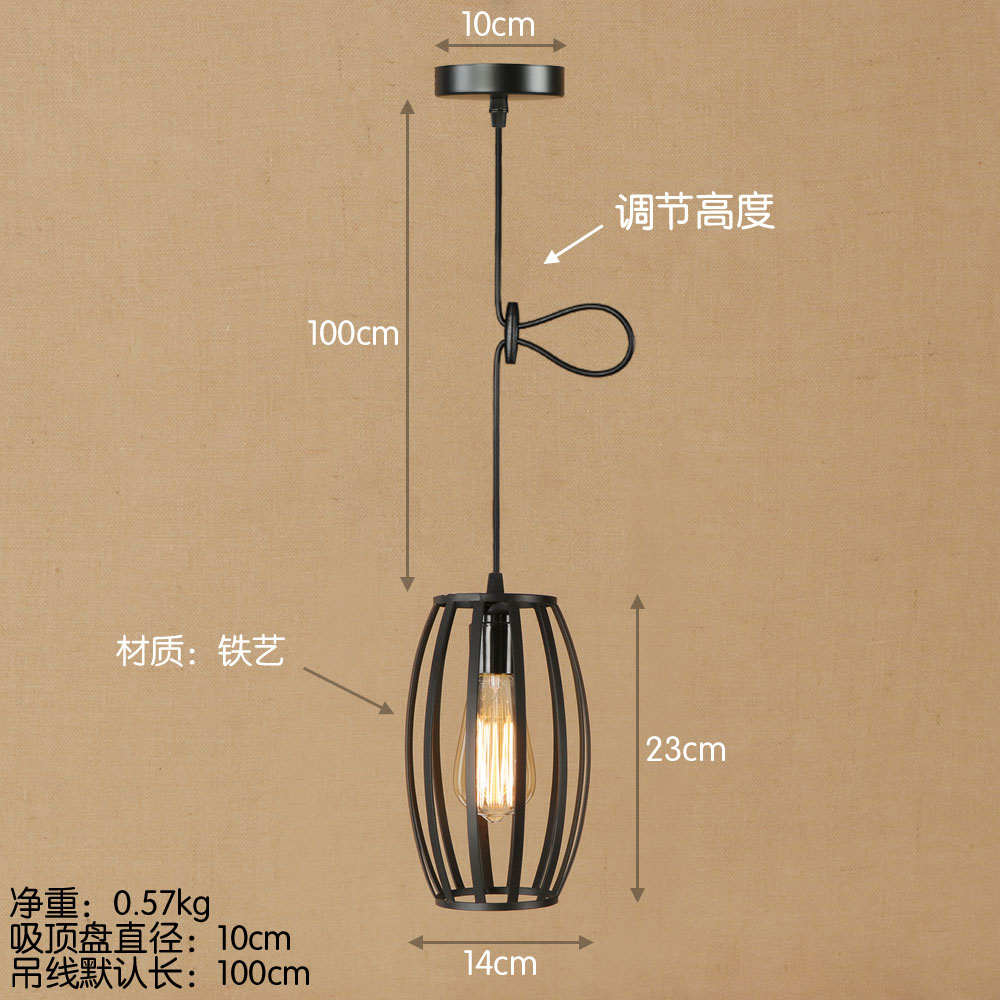 Loft Vintage Industrial Retro Pendant Lamp Edison Light E27 Holder Iron Restaurant Bar Counter Attic Bookstore Cage Lamp loft retro hanging lamp industrial minimalist iron pendant light bar cafe restaurant e27 lamp holder vintage lights wpl028