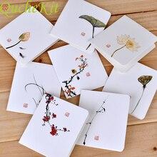Postcard Envelope Blessing-Card Lotus-Printing Chinese Birthday-Valentines Gift